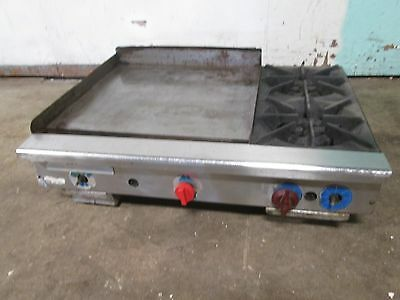 """""""american Delux """" Hd Commercial 36"""" Natural Gas C-Top Griddle W/2 Burner Stove"""
