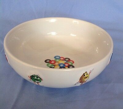 "M&M Mars Ceramic Candy Dish Serving Bowl Raised Characters 6.5""x 2.5"""