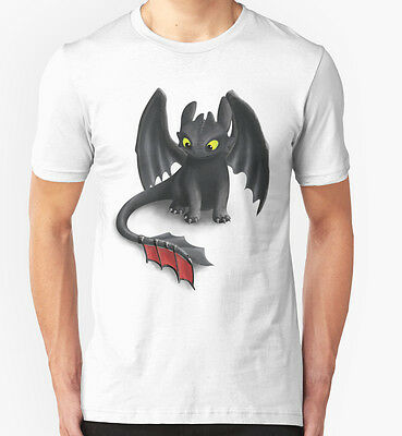 New Toothless, Night Fury Inspired Dragon Men's T-Shirt Size S-2XL