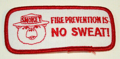 Vtg 1990s Smokey The Bear Fire Prevention is No Sweat Patch New NOS