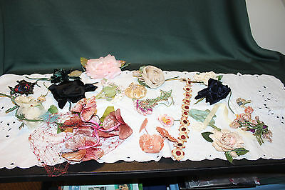 Vintage Antique Silk Flowers (21 piece)-French & Belgium-REDUCED!