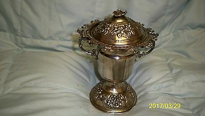 Solid Silver Sugar Sauce Bowl with Spoon Holders