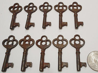 Antique Vintage Skeleton Keys REPRODUCTION SteamPunk Jewelry [Lot of 10]-