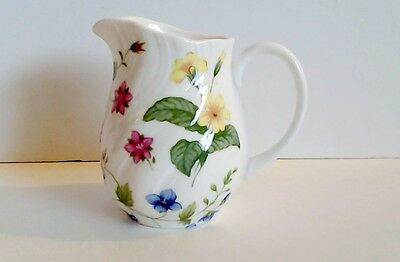 Rosina Queens Country Meadow Small Cream Pitcher 6 Oz Pink Lavender Yellow Blue