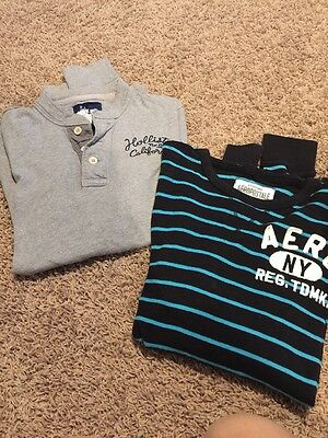 Men's Shirts Lot Of 2 Hollister & Aero