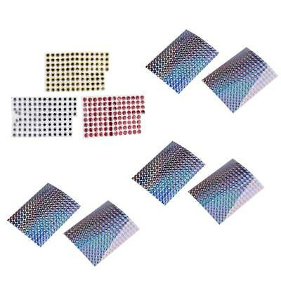 300Pc 14mm 3D Fish Lure Eyes & Adhesive Holographic Tape Fishing Lure Making