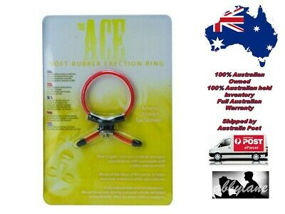 The Ace Soft Rubber Erection Ring   Impotence Erectile Dysfunction Aid