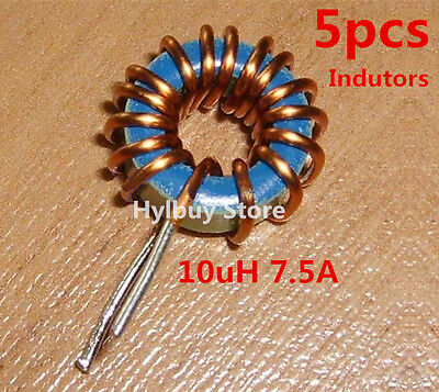 5pcs 10uH 7.5A Small Toroidal Inductor Magnet inductance Coil Anti-Interference
