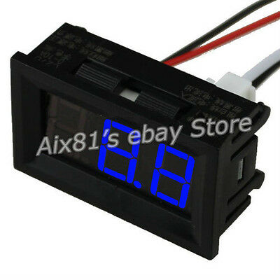 C27D Digital LED Display DC 0~50A Blue Amp Panel Ammeter Ampere Meter DC 4.5~28V