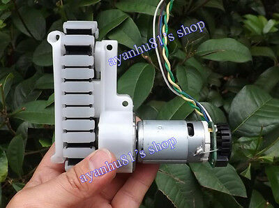 DC 12V Full Metal Gear Track Motor Speed Encoder 85RPM 10Kg for Robot Tank Model