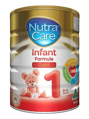 6 x 900 Gram NUTRACARE STEP 1 INFANT FORMULA 0-6 MTHS 70% OFF