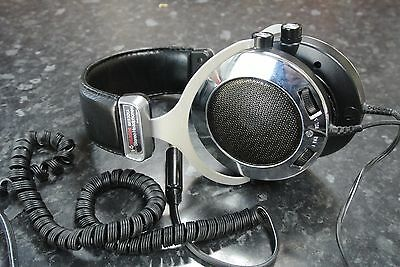 Vintage 1970s BUSH BX9301A Stereo Headphones made in JAPAN
