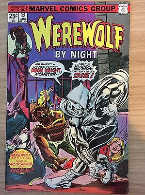 Werewolf by Night #32 7.5 VF- First Moon Knight Cents Copy