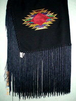Dance Shawl, Ladies, Hand tied, Oklahoma Style, Embroidered                 s405