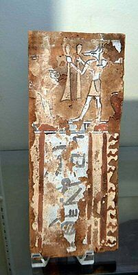 An Ancient Egyptian Wood Sarcophagus Panel
