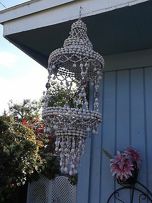 Vintage Retro Sea Shell Hanging Planter 33 In Long ( Very Chic)