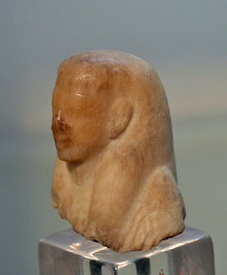 An Egyptian New Kingdom Alabaster Head