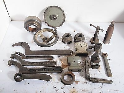 Huge Lot of South Bend Lathe machinist parts 10K Gears Toolpost Wrenches USED
