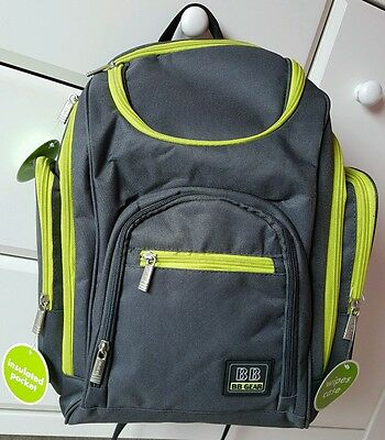 New Baby Boom Space & Places Diaper Bag Travel Backpack Grey / Green