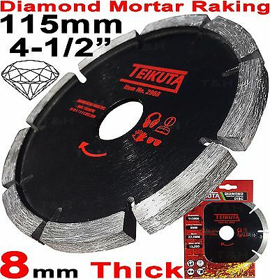 "Mortar Raking Disc 115mm 41/2"" Diamond Mortar Raking Blade Angle Grinder Disc"