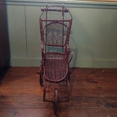 RARE Early 1900's Adirondack Antique Baby Stroller or Doll Carriage