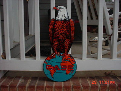 Case Tractor Sign Heavy Steel Thick Sign Eagle On Globe