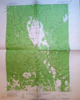 Vintage USGS Topo Map 1961 Logan Valley Oregon Grant And Harney County Oregon