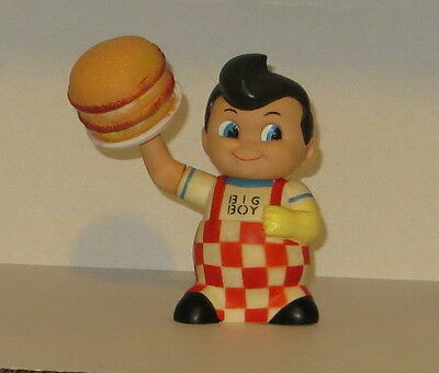"Vintage 1970's Big Boy 8 1/2"" Rubber Bank W/Rotating Burger & Arm"