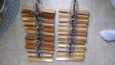Lot of 40 Wooden Pincher Slack/Pants/Skirt/-Organizers- Clothes Hangers