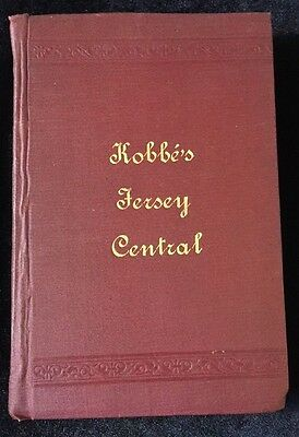 First Edition The Central Railroad of New Jersey Gustav Kobbe 1890 Map Fare