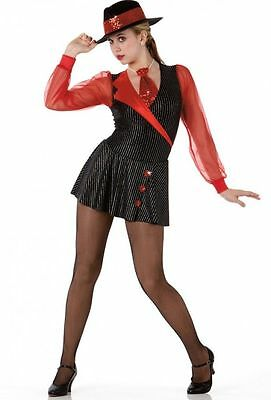 Private Eyes Dance Costume Ice Skating Tap Tuxedo Dress Clearance Child X-Large