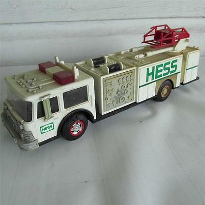 VINTAGE 1989 Hess Oil Co FIRE TRUCK toy BANK gas advertising display