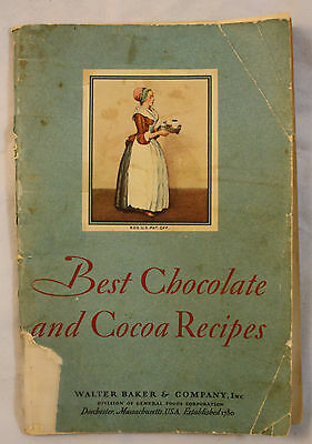 Best Chocolate And Cocoa Recipes Walter Baker & Company 1931 Color Lithos