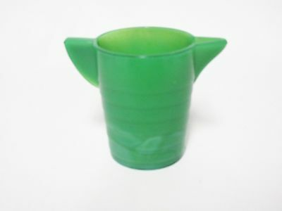 Akro Agate Small Stacked Disc Child's Green Water Pitcher / 6 Available