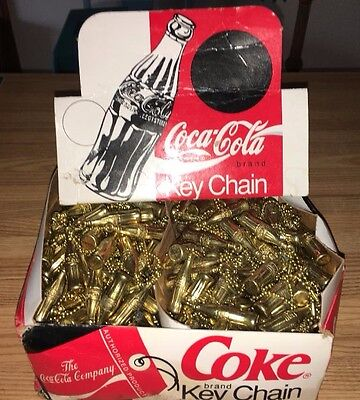 vtg LOT 200+ COKE BOTTLE RETAIL COUNTER DISPLAY COCA COLA GOLDTONE keychain