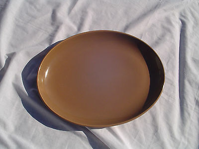 """russel wright casual platter 14 1/2"""" brown"""