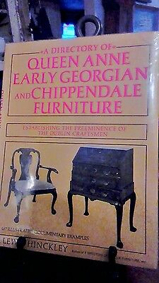 Queen Anne Georgian Chippendale Furniture Chairs Desks High Chests / Book