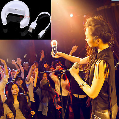 LED Light Up Selfie Luminous Clip Phone Ring For iPhone 6 6S LG  Portable Luxury