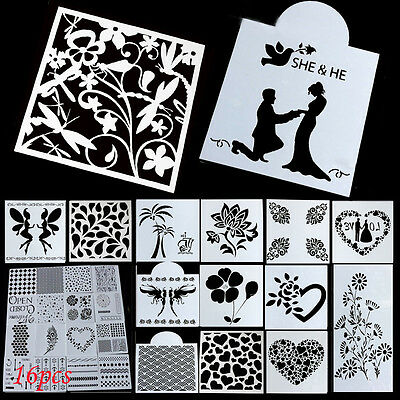 NEW Stencil Airbrush Painting Art DIY Home Decor Scrapbooking Album Craft