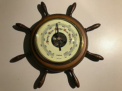 Sailing Ship Steering Wheel Barometer Wall West Germany maritime nautical