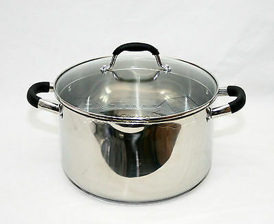 28cm Strain & Pour Stainless Steel Cookware Saucepan Pot With Lid Induction Pan