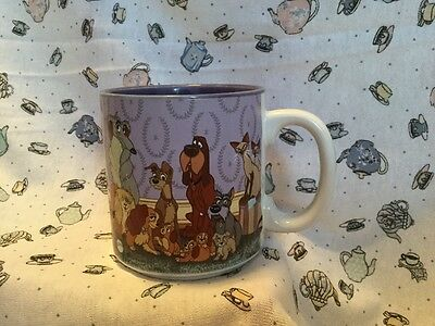 Walt Disney Co LADY AND THE TRAMP Coffee Mug Cup 10 Oz Ceramic Canine Classic