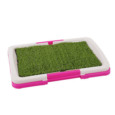 Pet Dog Puppy Toilet Trainer Grass Mat Potty Pad Indoor House Litter Tray