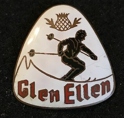 GLEN ELLEN now SUGARBUSH NORTH Skiing Pin Vermont VT LOST NAME 1963-78 Travel