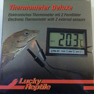 Twin Probe 2 Sensor Digital Thermometer Aquarium Sump Reptile Vivarium LTH-31 UK