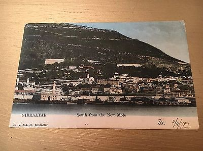 1904 Gibraltar - South From The new Mole Colour Postcard