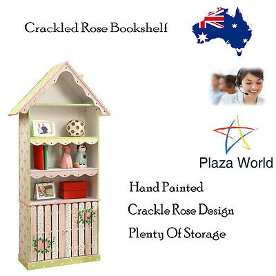 Kids Display Cabinet Shelf/Drawer Teamson Crackled Rose Childs Baby Hand Made KM