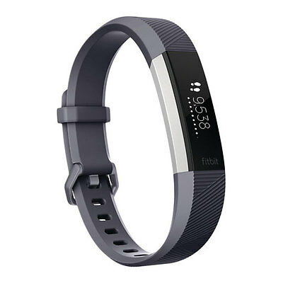Fitbit Alta HR Heart Rate Activity Tracker, Size Small, Blue Gray