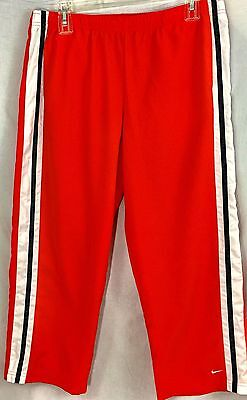 Nike Youth L (12-14) Orange Warm Up Pants with Waist Tie