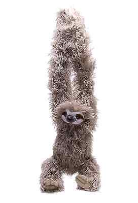 "NEW Wild Republic Hanging Monkey 20"" 3 TOED SLOTH Cuddly Soft Toy Teddy 16387"